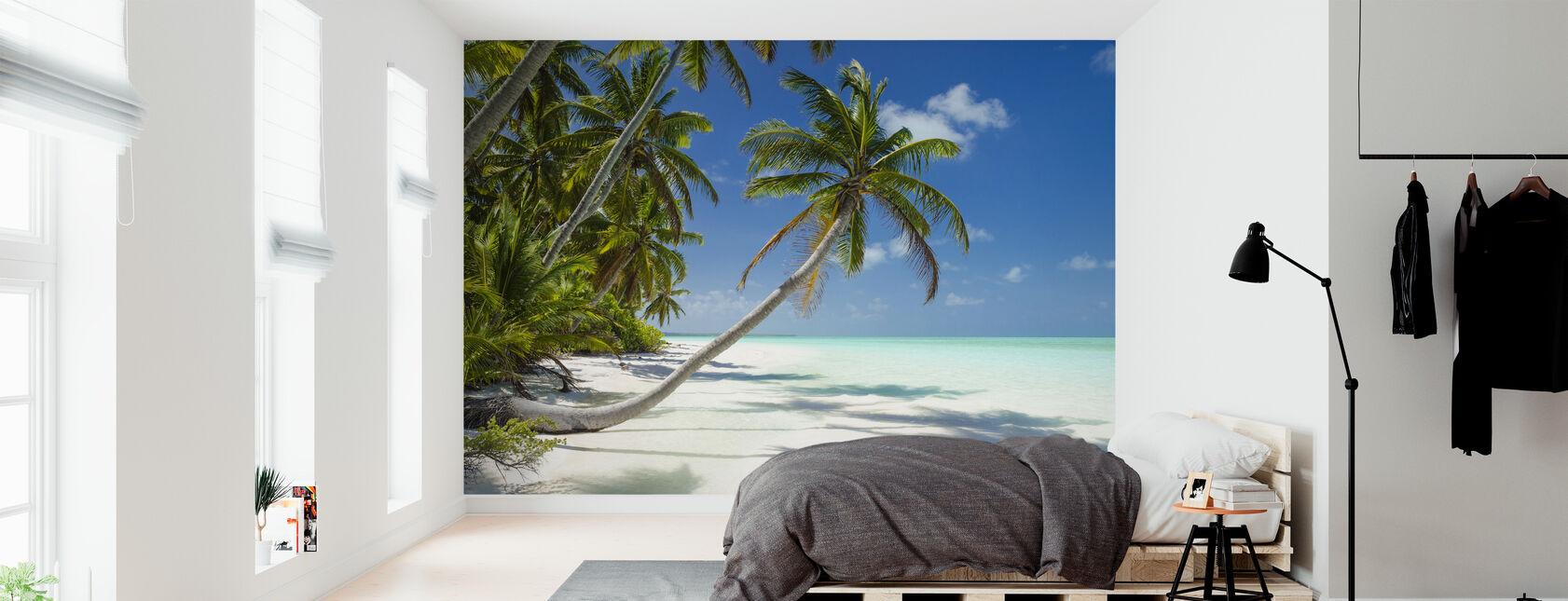 Lagune et palmiers - Papier peint - Chambre