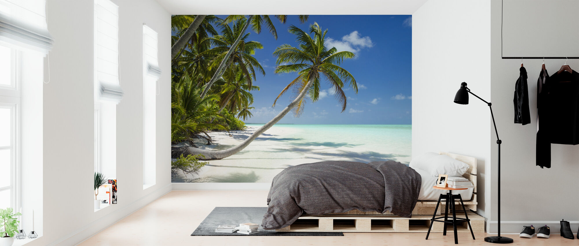 Lagune og palmer - Tapet - Soveværelse
