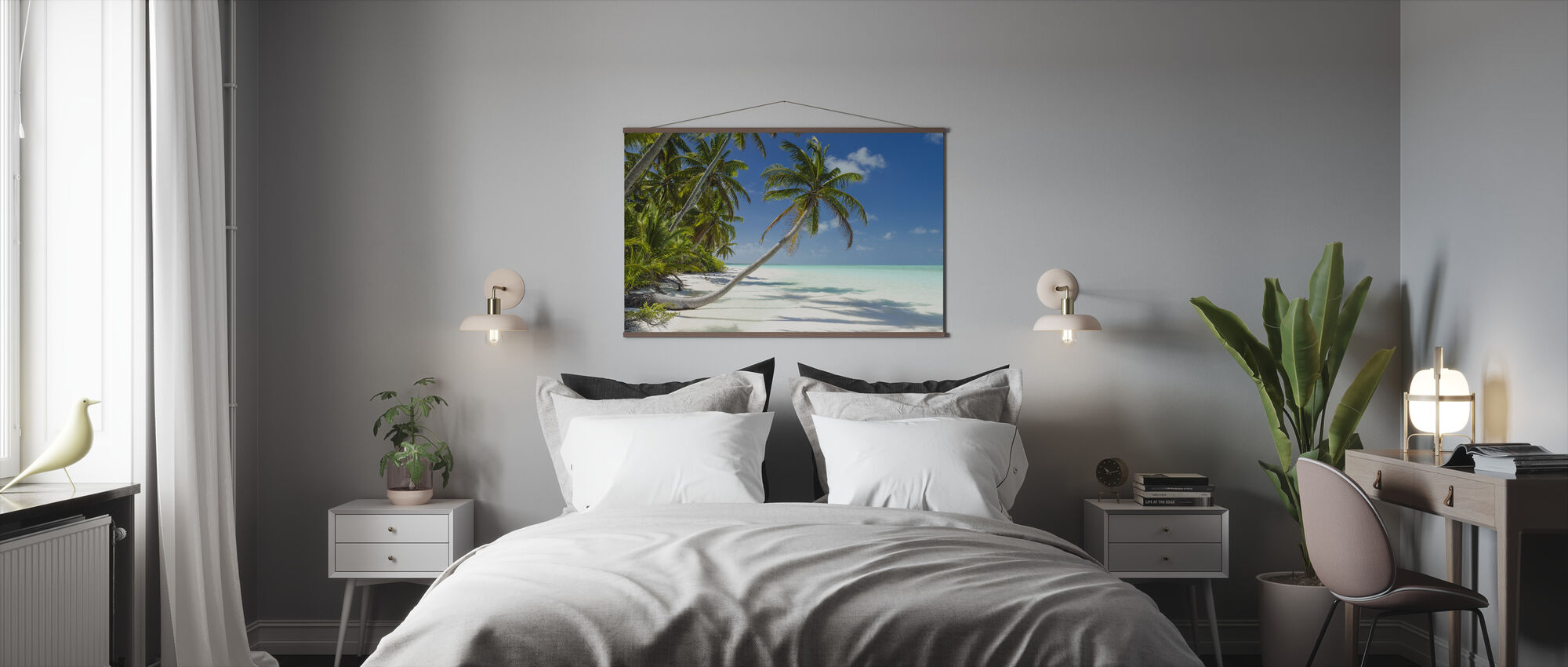 Lagoon and Palm Trees - Poster - Bedroom