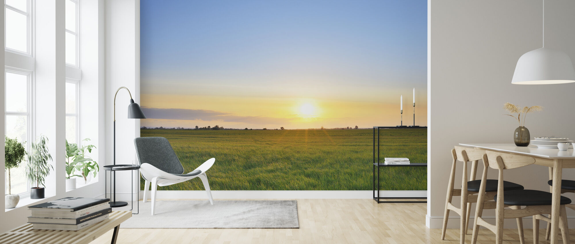 Meadow at Sunset - Wallpaper - Living Room