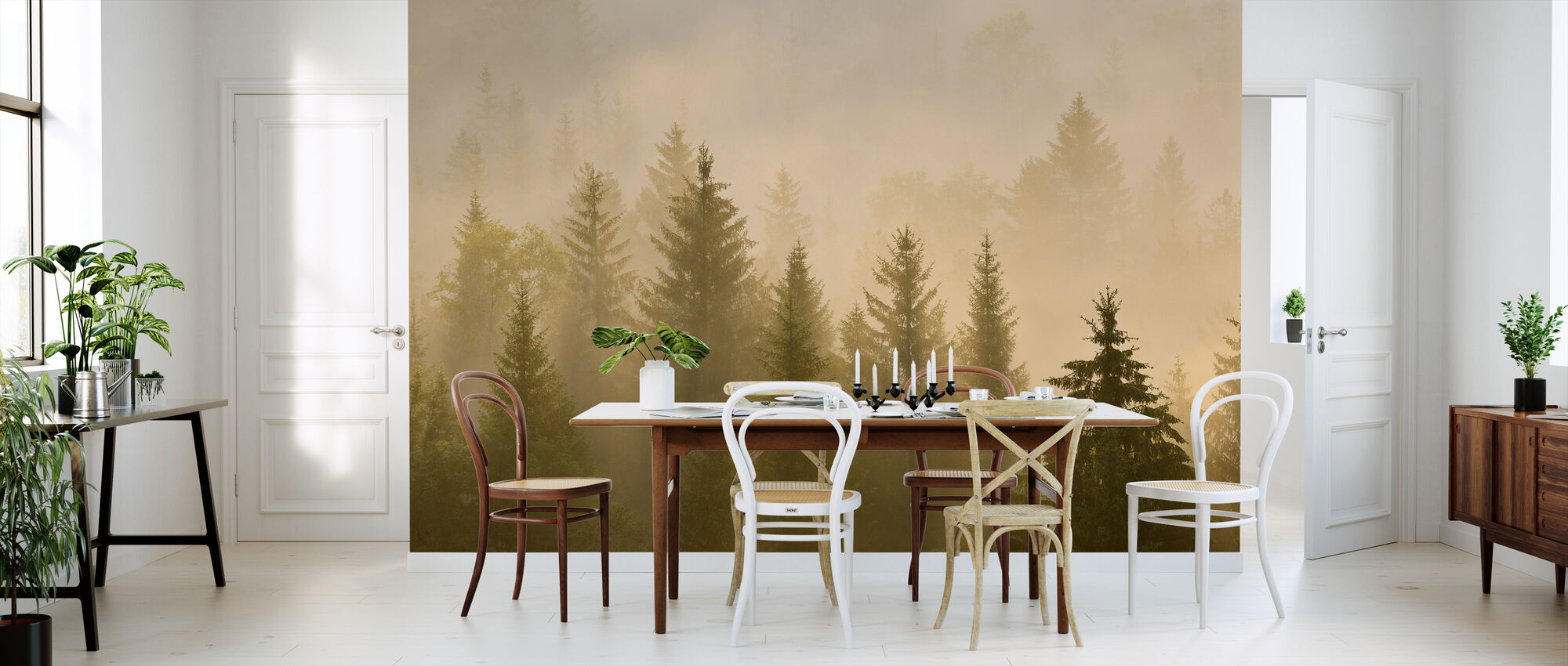 Morning Mist in Bavaria - Wallpaper - Kitchen