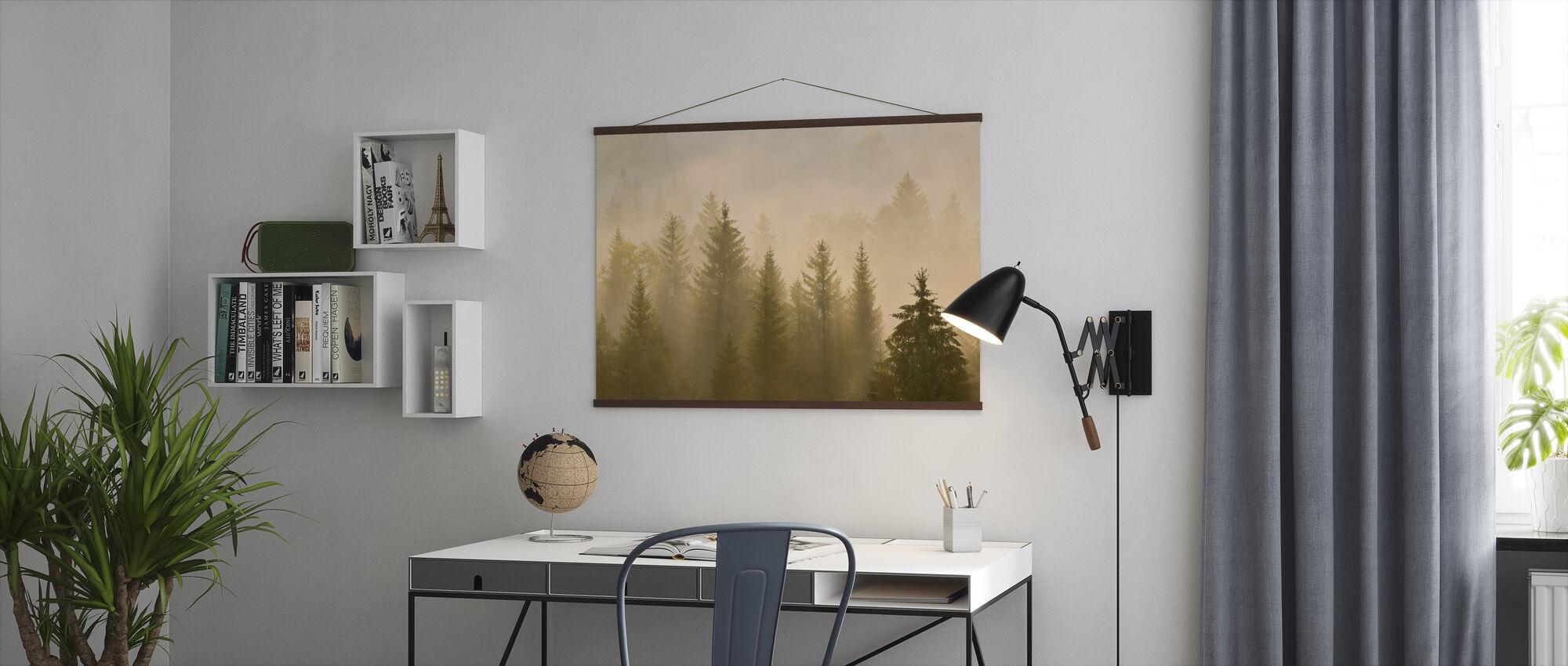 Morning Mist in Bavaria - Poster - Office
