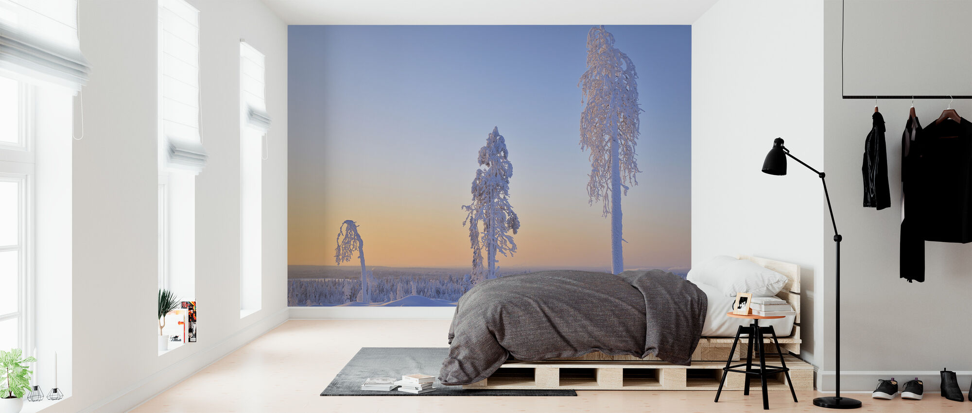 Ostrobothnia in Winter Dress - Wallpaper - Bedroom