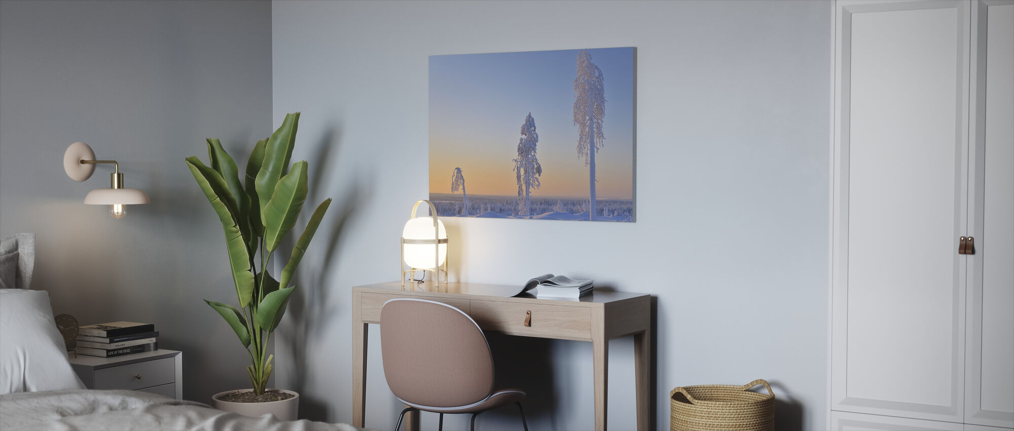 Ostrobothnia in Winter Dress - Canvas print - Office