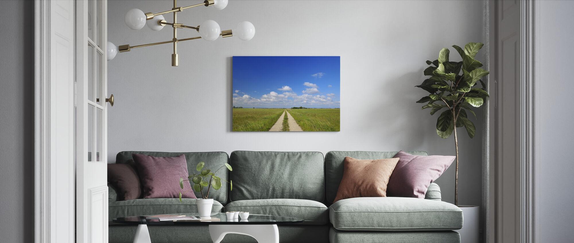 Polku läpi niitty - Canvastaulu - Olohuone