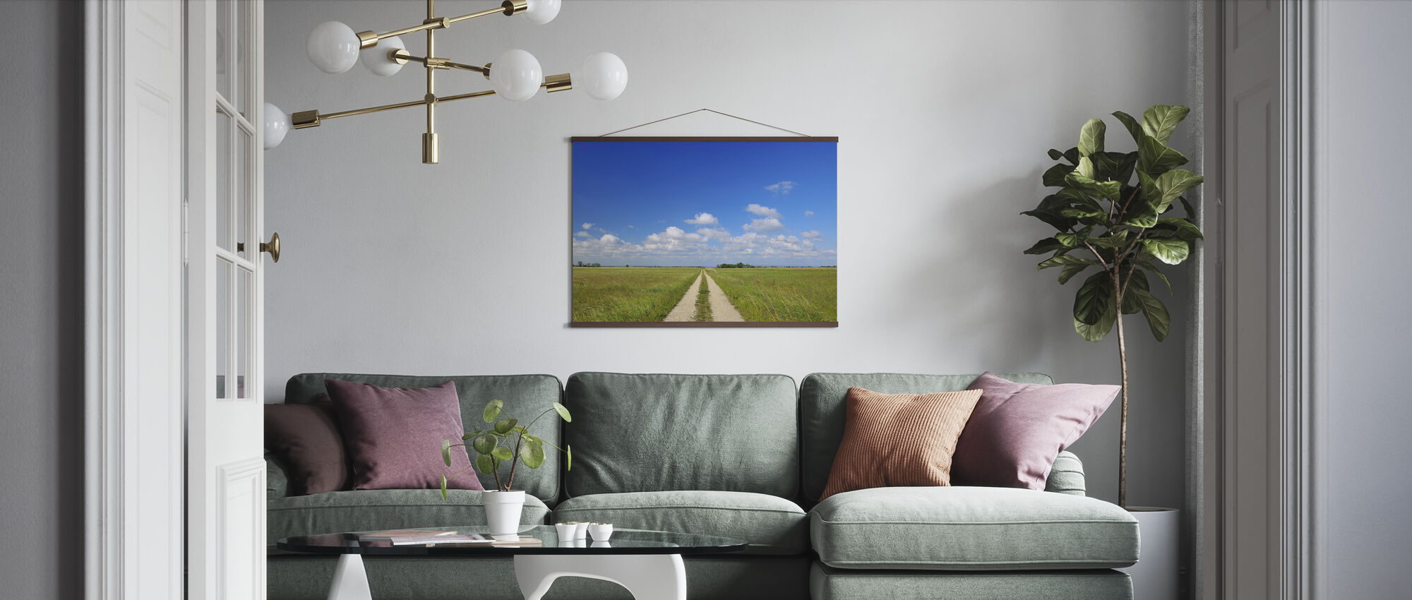Path through Meadow - Poster - Living Room
