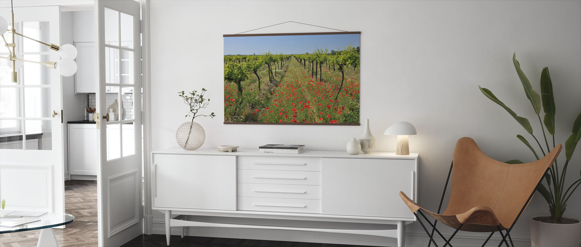 Poppies in the Vineyard - Poster - Living Room