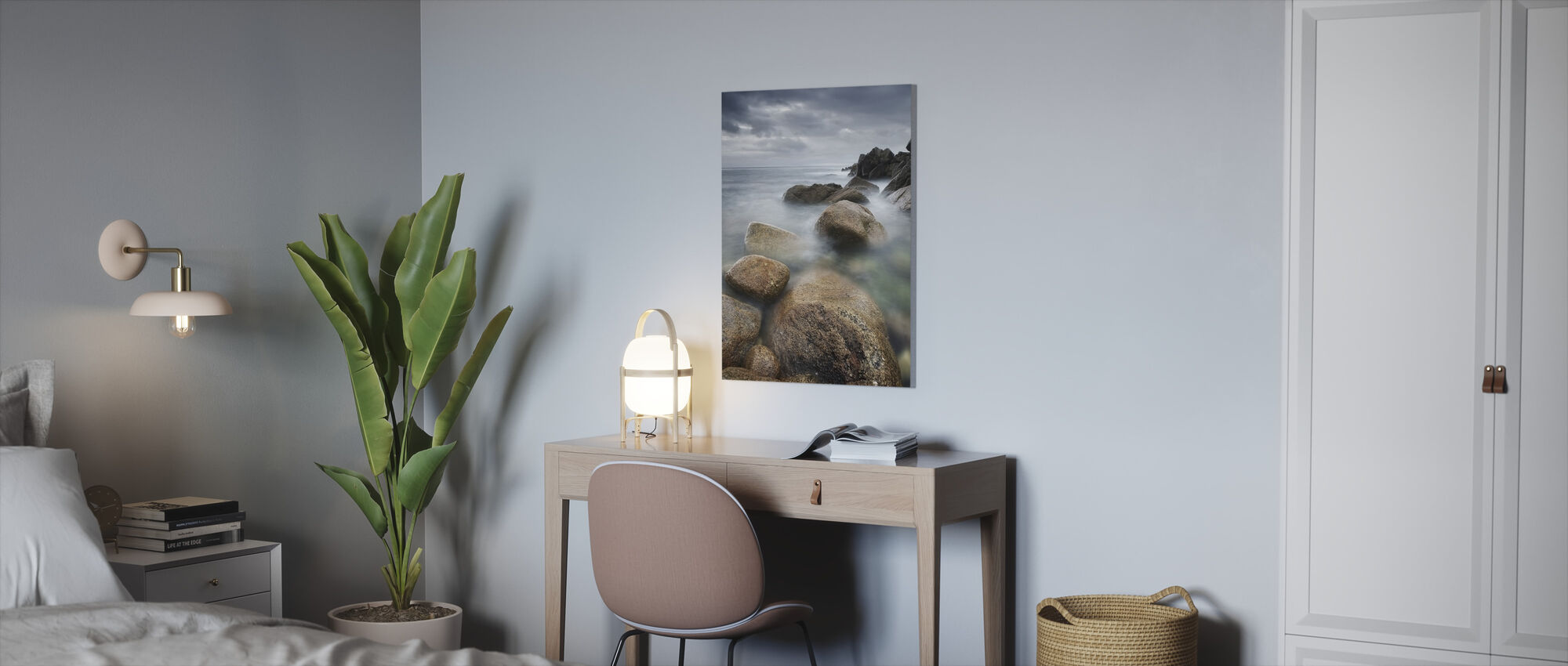 Rocky coast - Canvas print - Office