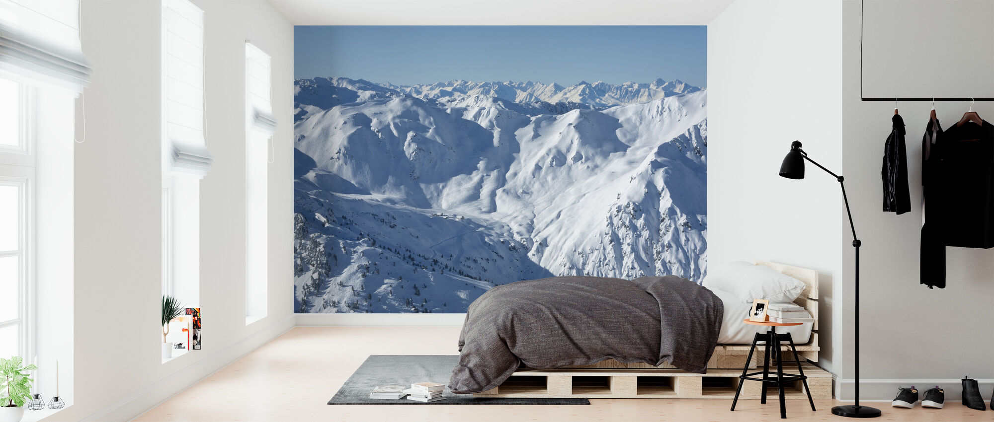 Ski Slopes of Zillertal - Wallpaper - Bedroom