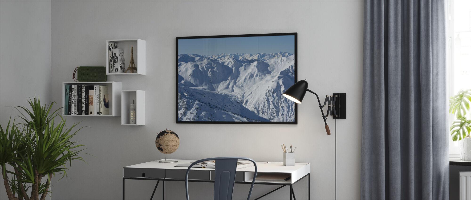 Ski Slopes of Zillertal - Framed print - Office