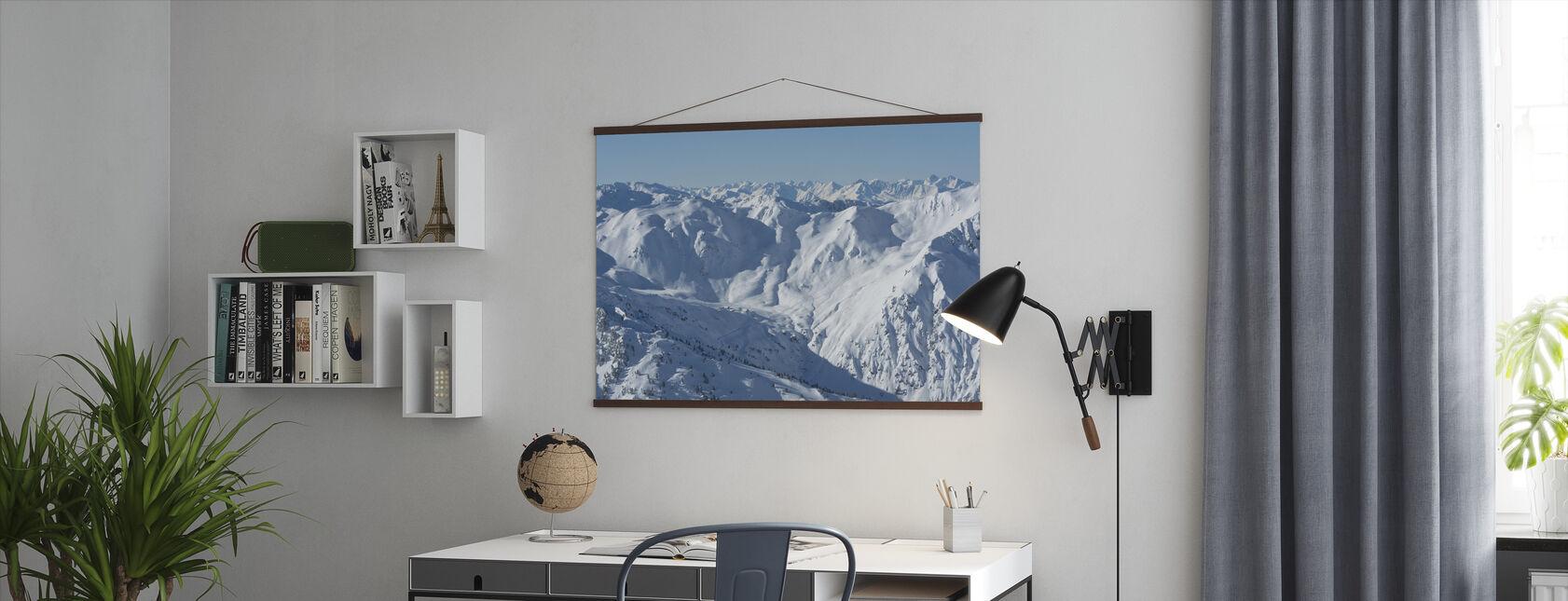Ski Slopes of Zillertal - Poster - Office