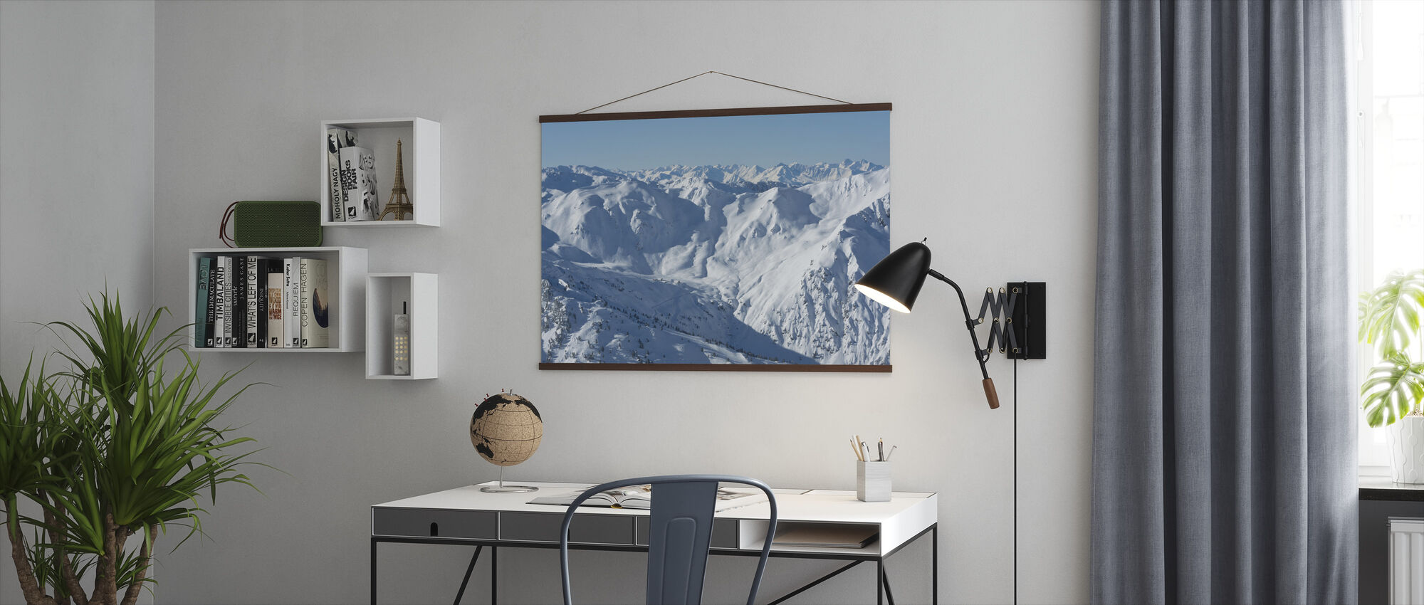 Ski Slopes of Zillertal - Poster - Office