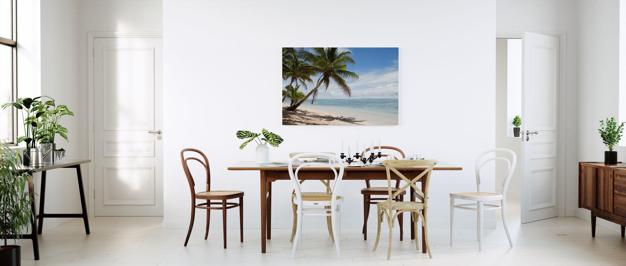 Tropical Beach Scene - Canvas print - Kitchen