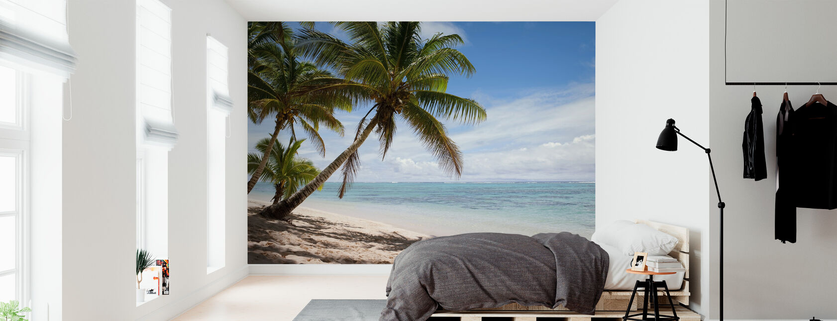 Tropical Beach Scene - Wallpaper - Bedroom