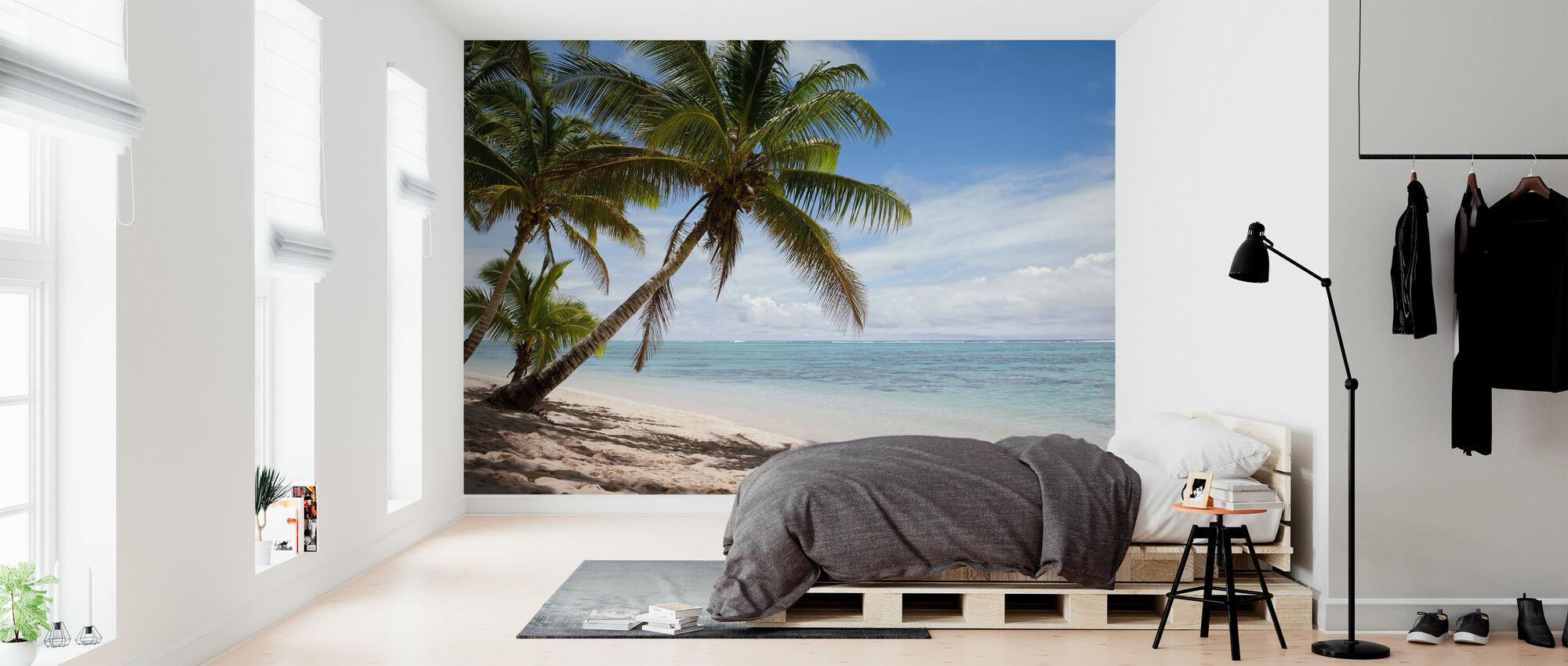 Trooppinen ranta-kohtaus - Tapetti - Makuuhuone