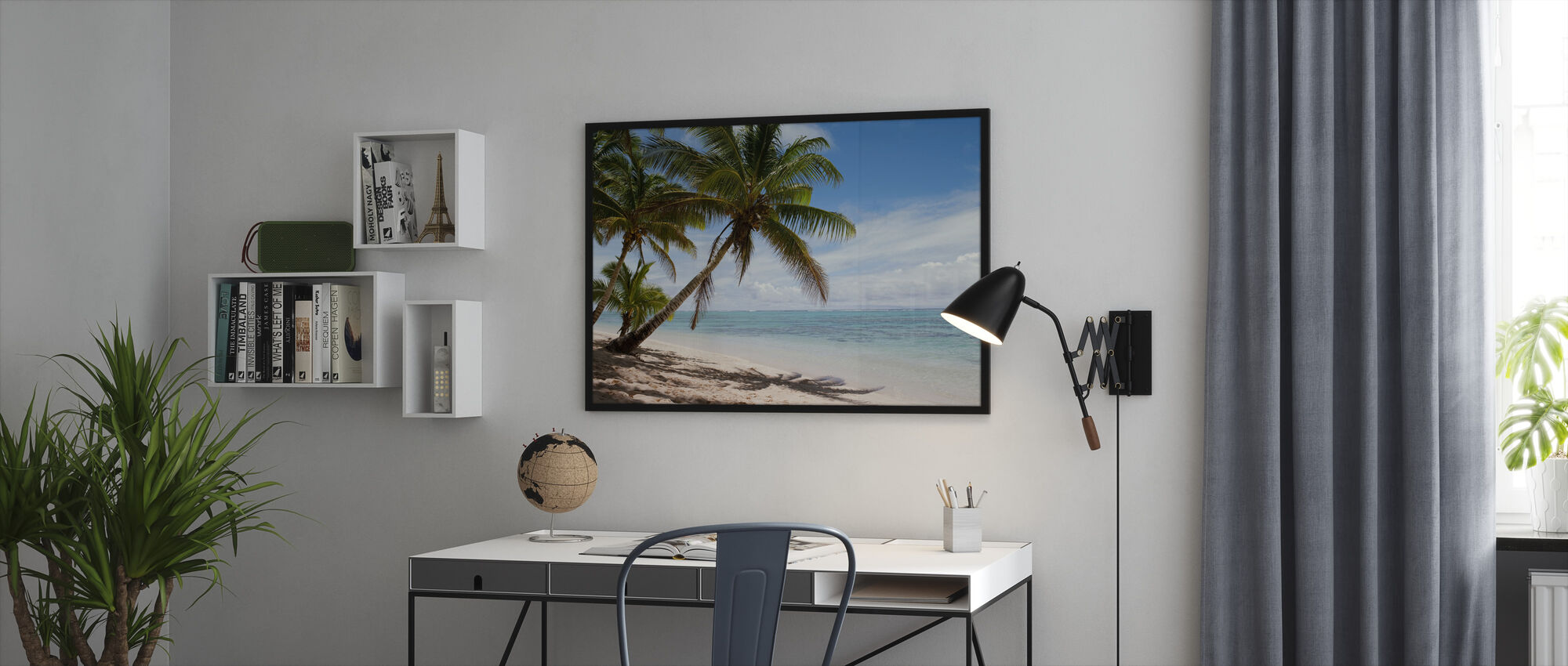 Tropical Beach Scene - Framed print - Office