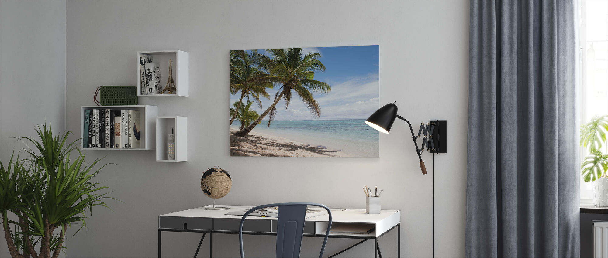 Tropical Beach Scene - Canvas print - Office