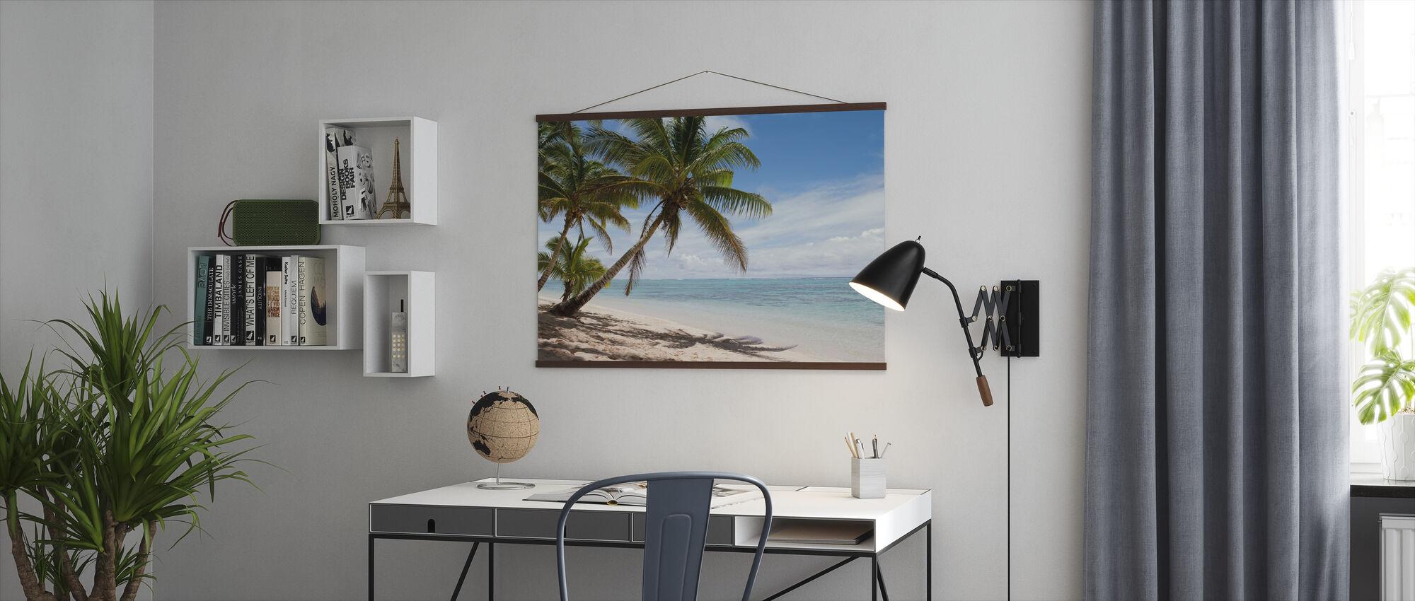 Tropisk strandscene - Plakat - Kontor
