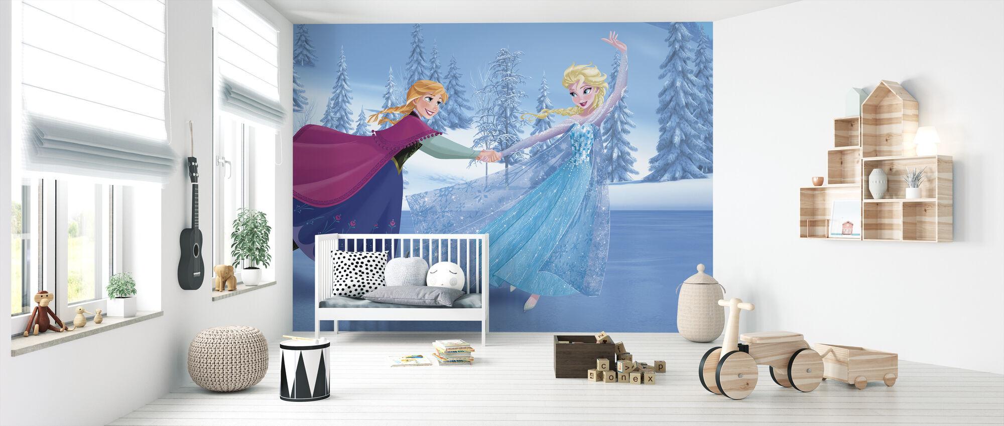 Jäätynyt - Luistelu - Tapetti - Vauvan huone
