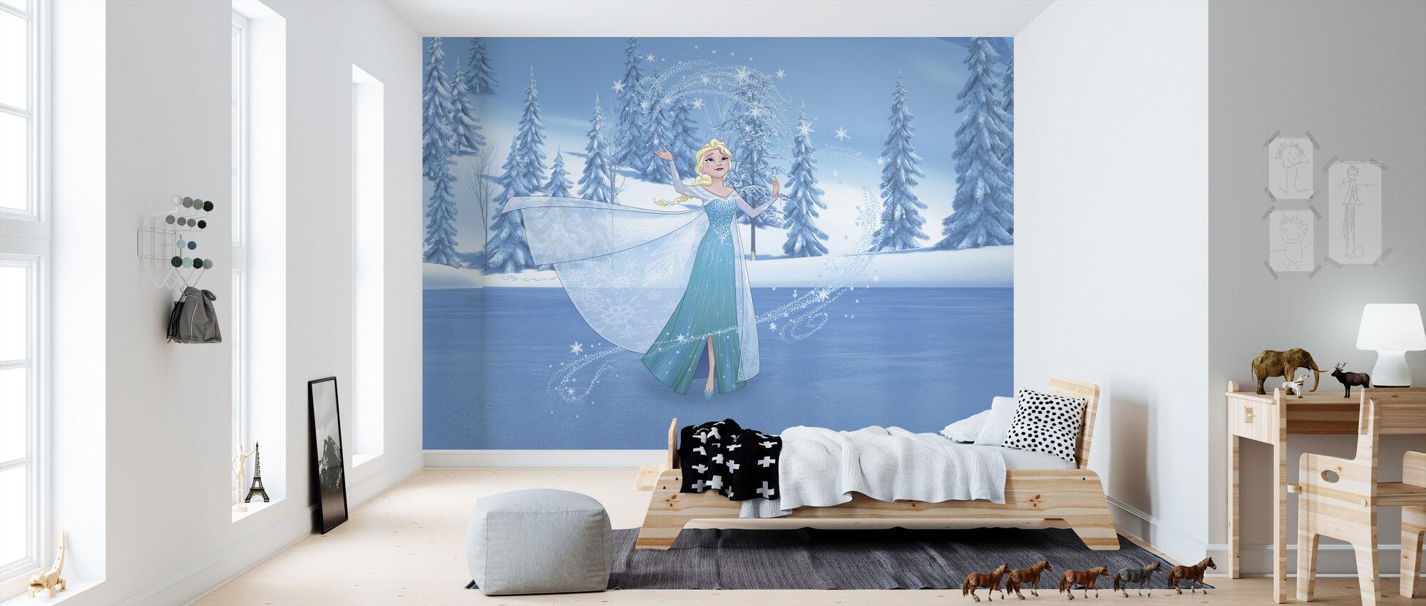 Jäätynyt - Elsa ja Magic Heart - Tapetti - Lastenhuone