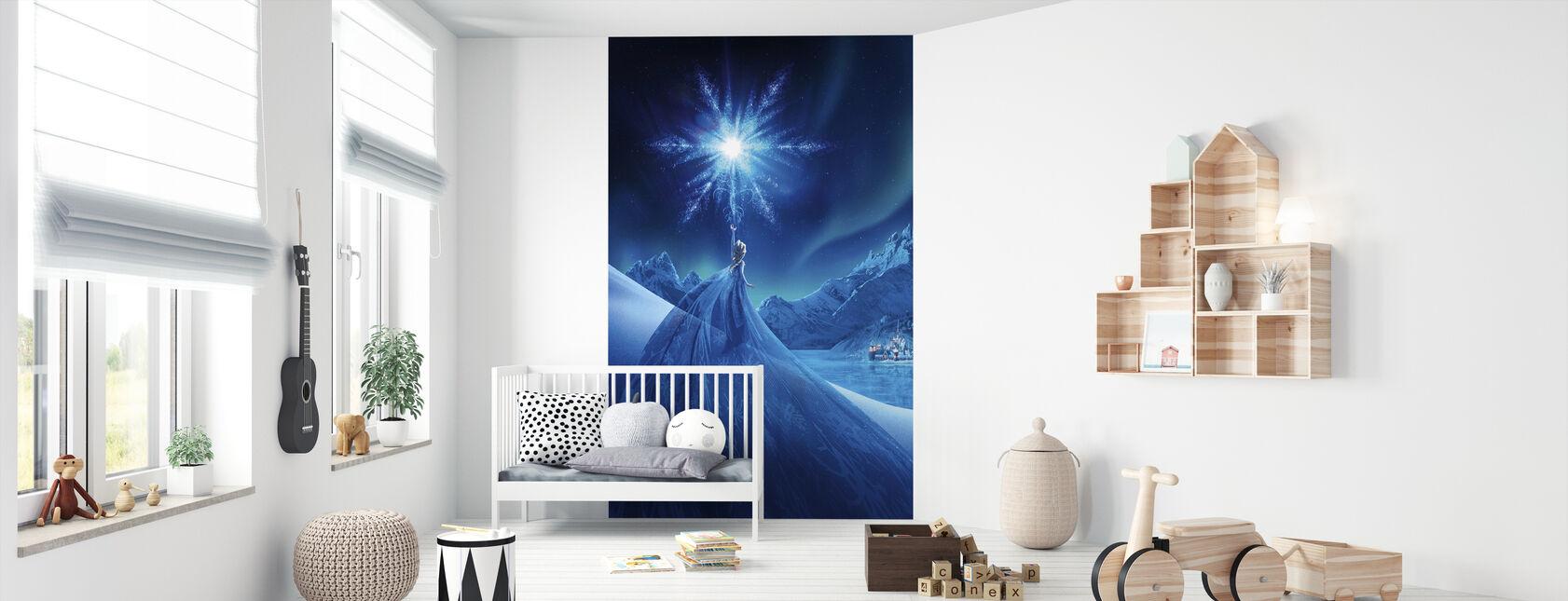 Jäätynyt - Revontulien taikuus - Tapetti - Vauvan huone