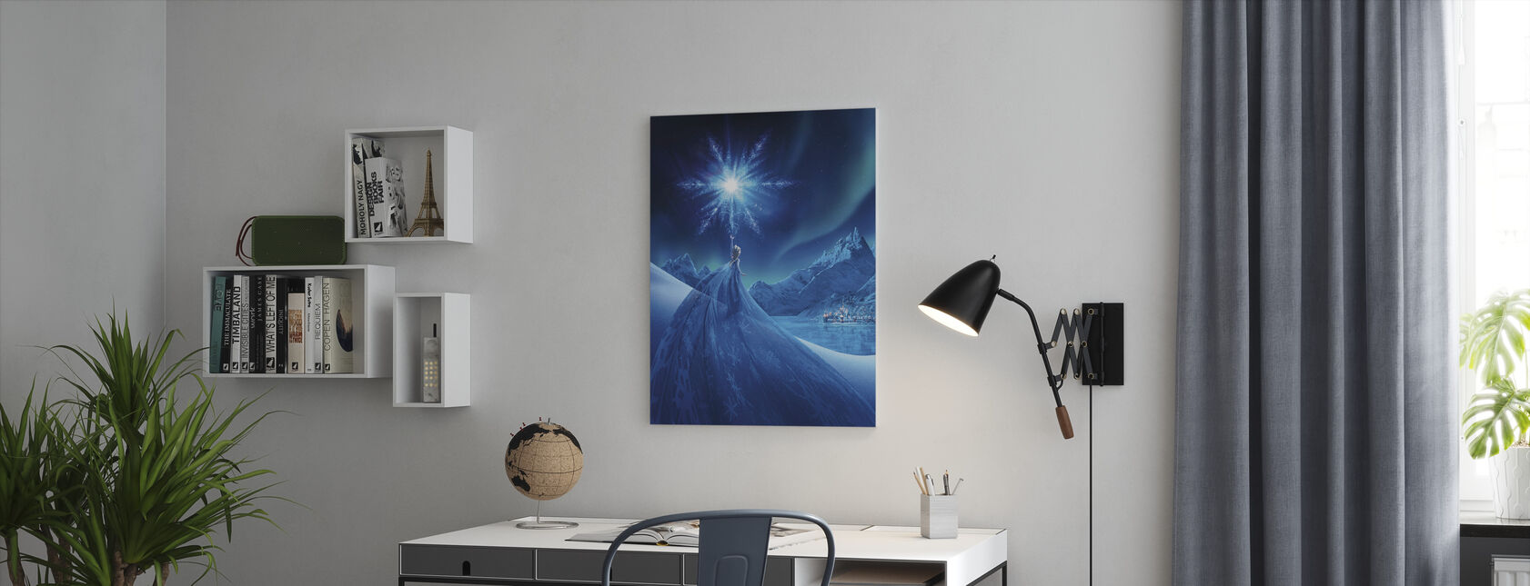 Frozen - Magic of the Northern Lights - Canvas print - Office