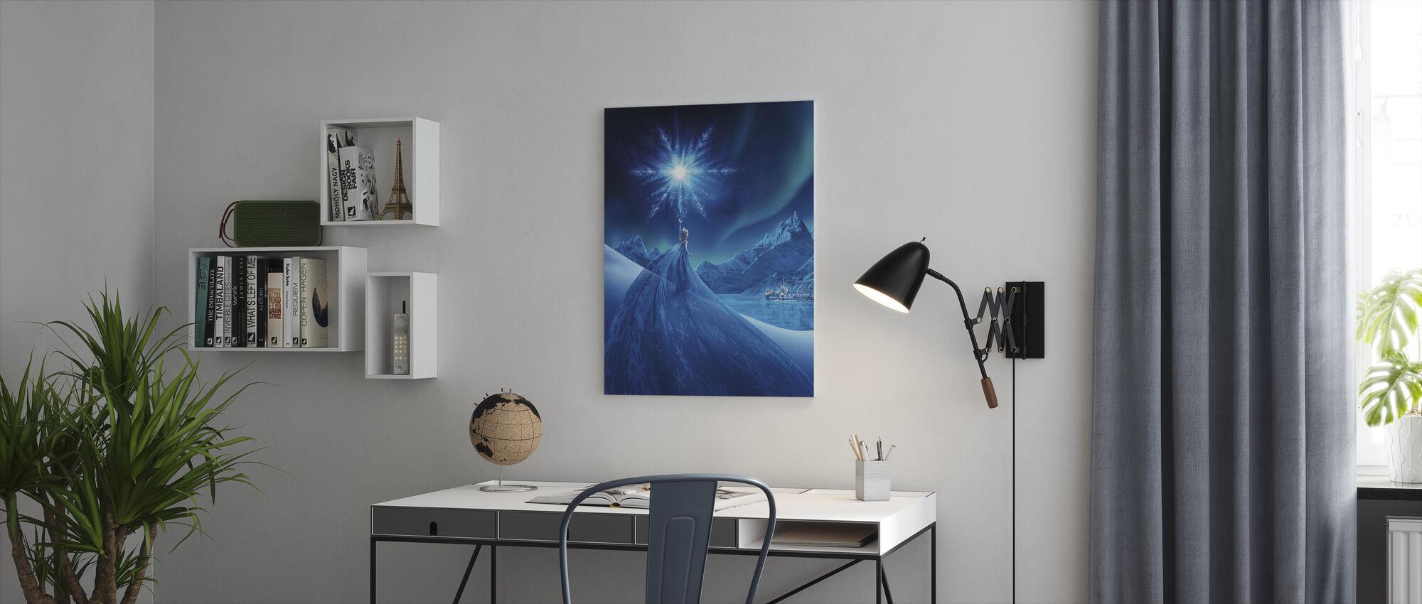 Jäätynyt - Revontulien taikuus - Canvastaulu - Toimisto