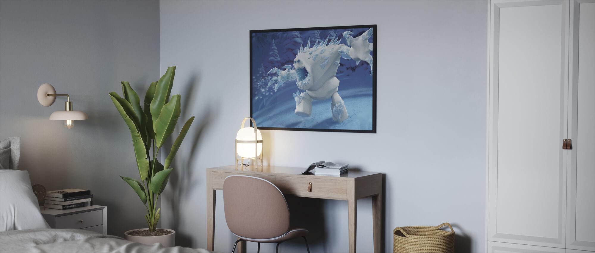 Jäätynyt - Vaahtokarkki - Kehystetty kuva - Makuuhuone