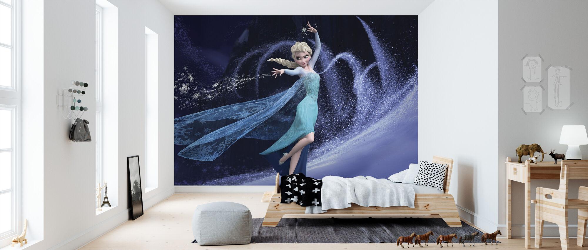 Frosset - Elsa og hennes magiske krefter - Tapet - Barnerom