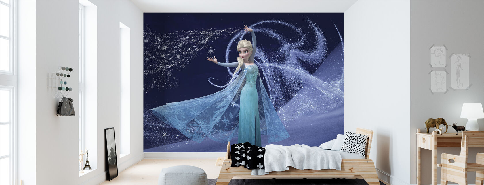 Frosset - Magic Elsa - Tapet - Barnerom