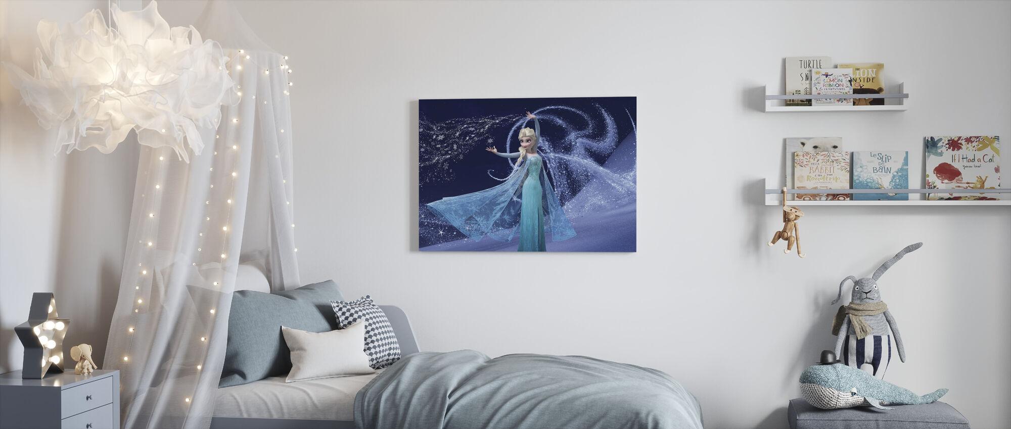 Fryst - Magic Elsa - Canvastavla - Barnrum