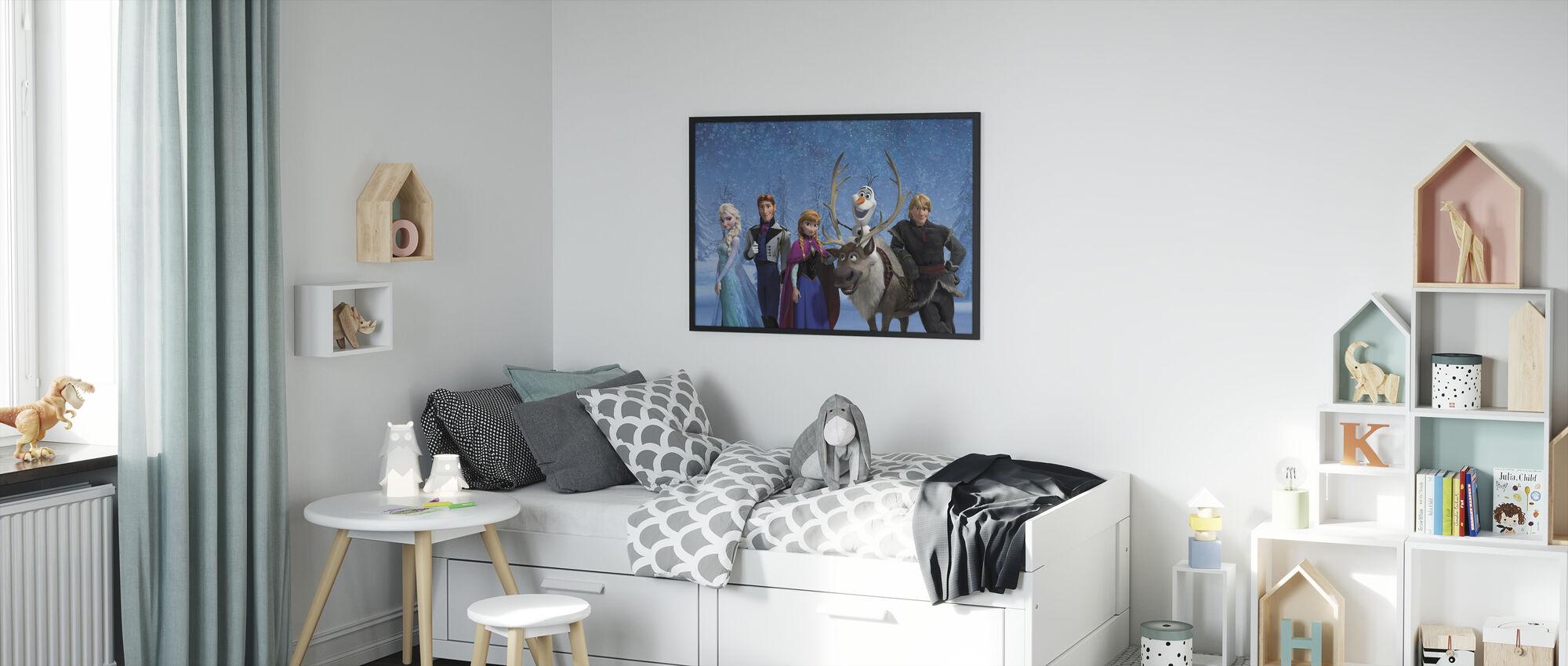 Jäätynyt - Todelliset ystävät tekevät todellista taikaa - Kehystetty kuva - Lastenhuone