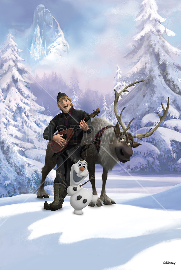 Frozen Kristoff Sven And Olaf Wall Mural Amp Photo