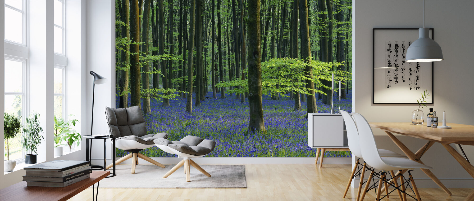 Beautiful Bluebells - Wallpaper - Living Room