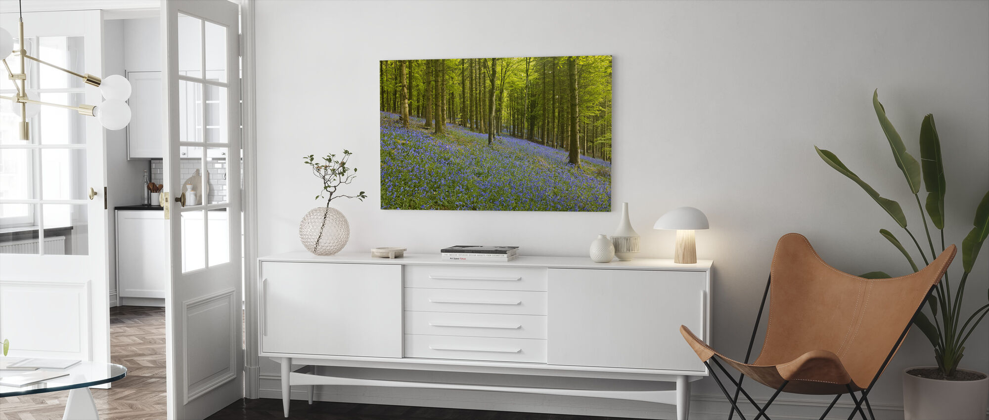 Bluebell Vloer van Delcombe Hout - Canvas print - Woonkamer