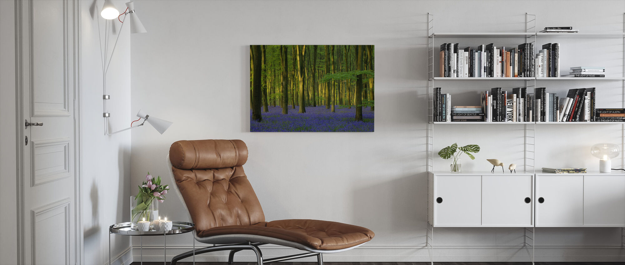 Bluebells in Sunlight - Canvas print - Living Room