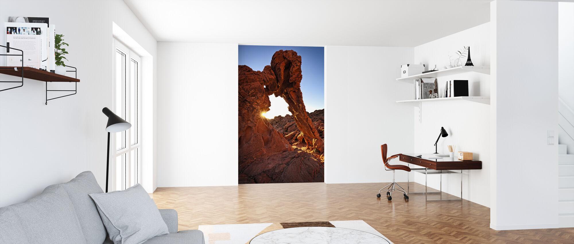 Olifant Rock in de Vuurvallei - Behang - Kantoor