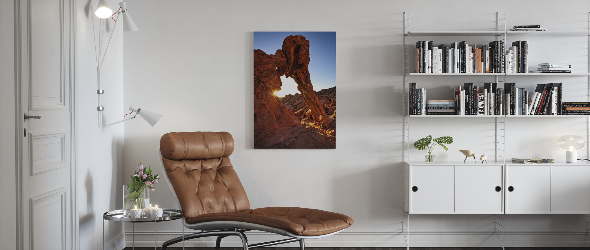 Elephant Rock in the Valley of Fire - Canvas print - Living Room