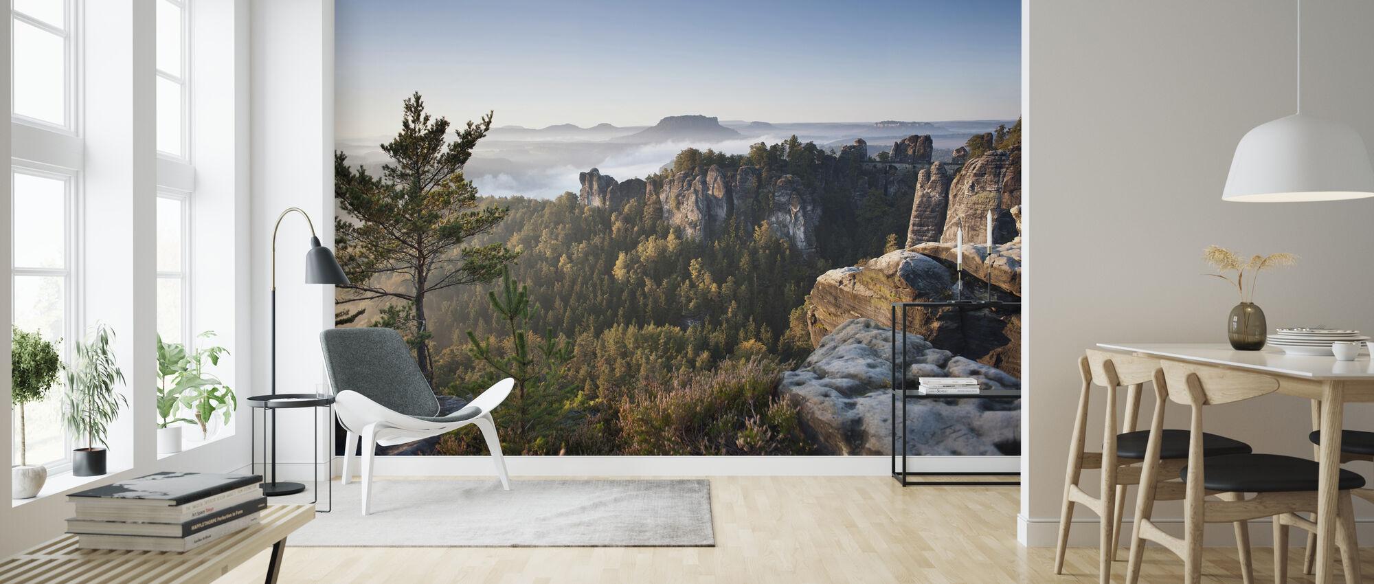 Morning at the Bastei - Wallpaper - Living Room