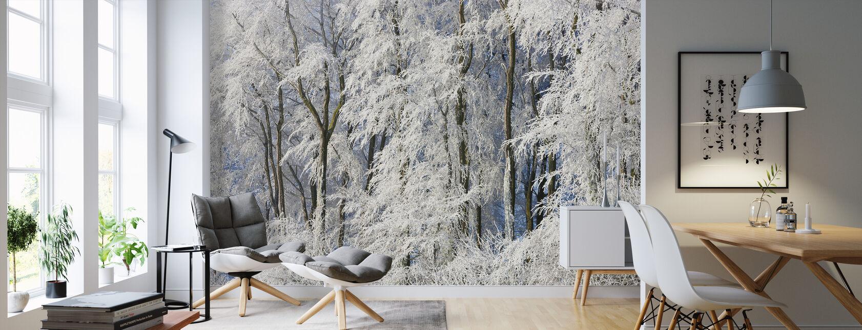 Snedækkede træer i Gloucestershire - Tapet - Stue