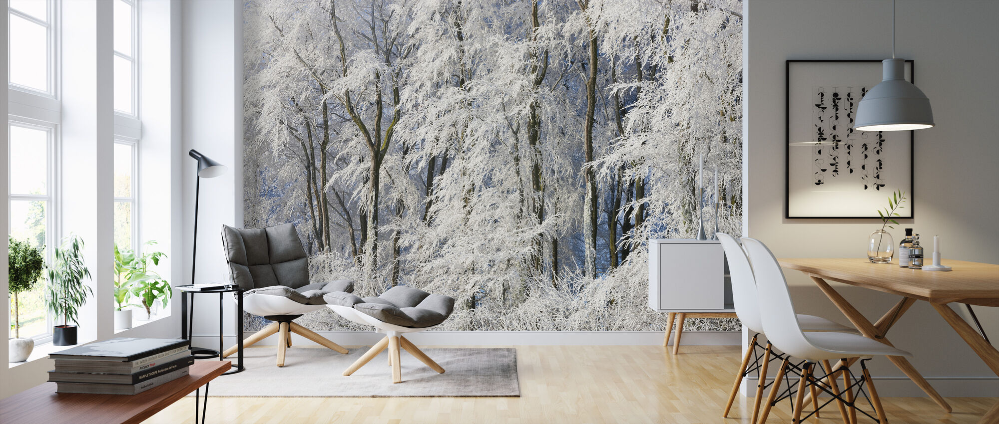 Snow Covered Trees in Gloucestershire - Wallpaper - Living Room
