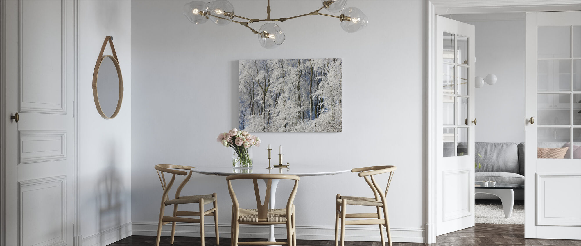Snow Covered Trees in Gloucestershire - Canvas print - Kitchen