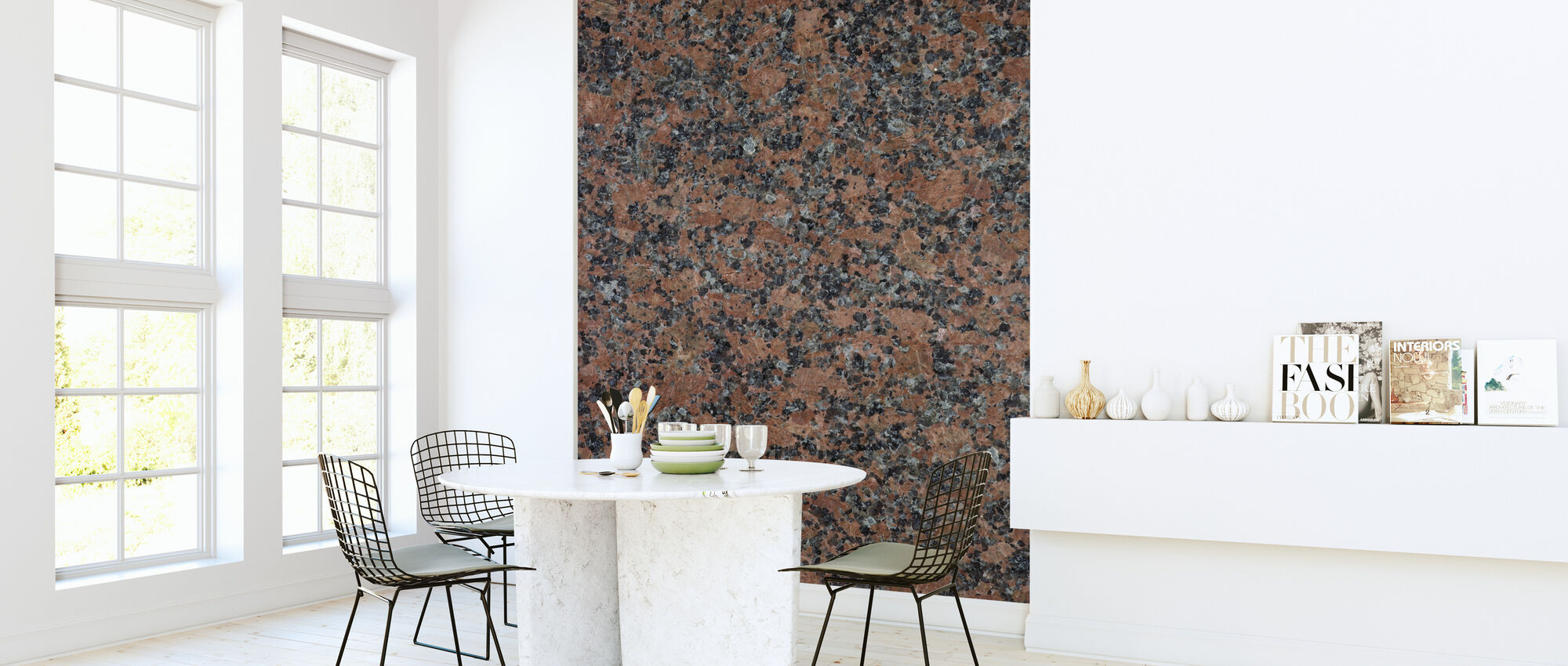 Black and Brown Granite - Wallpaper - Kitchen