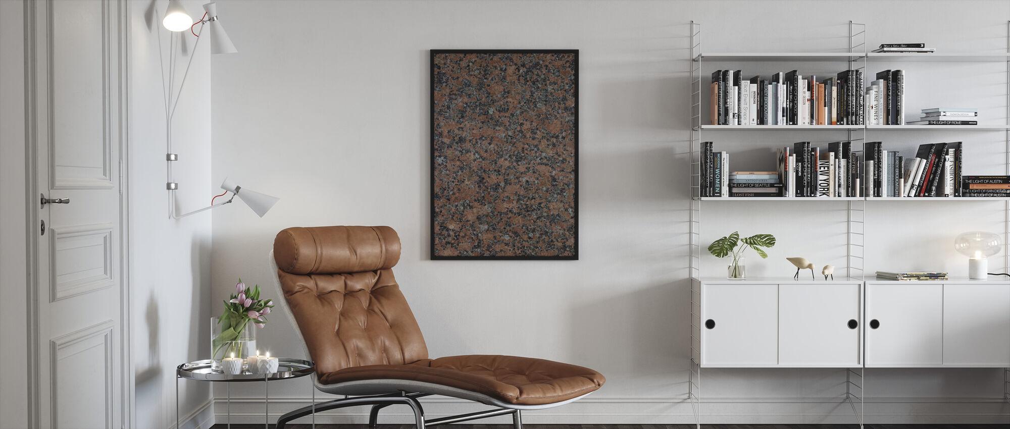 Sort og brun granit - Indrammet billede - Stue