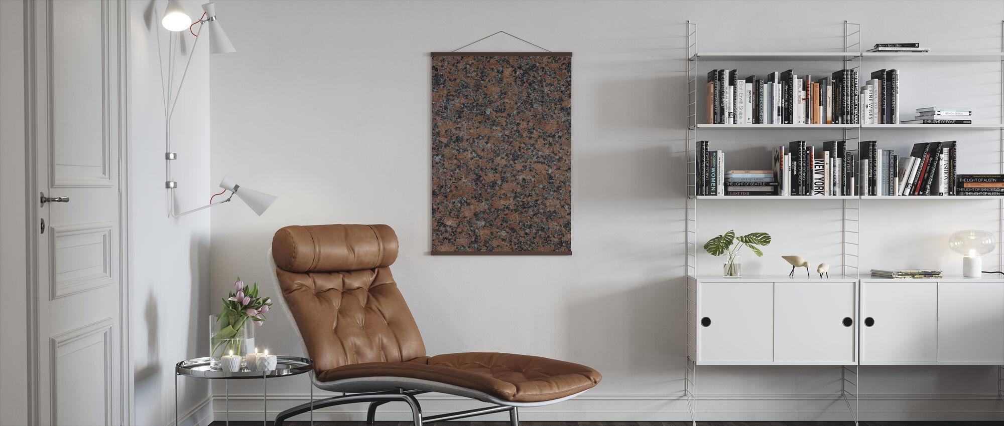 Black and Brown Granite - Poster - Living Room