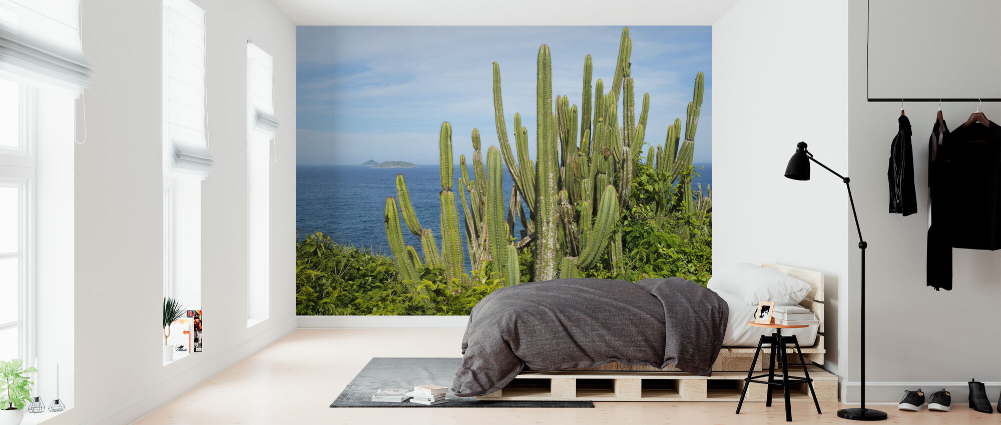 Cactus with a View - Wallpaper - Bedroom