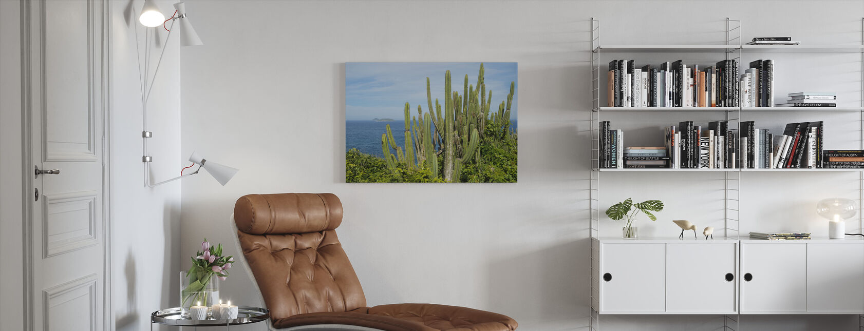 Cactus with a View - Canvas print - Living Room