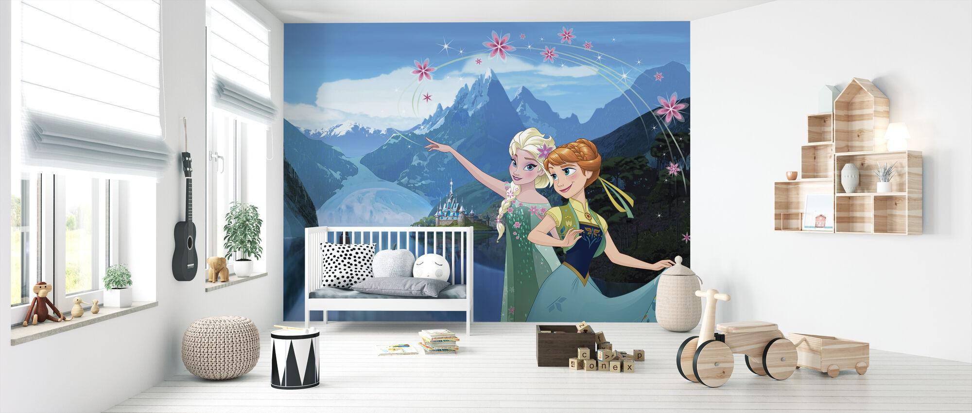 Frossen feber - Elsa og Anna - Tapet - Babyrom