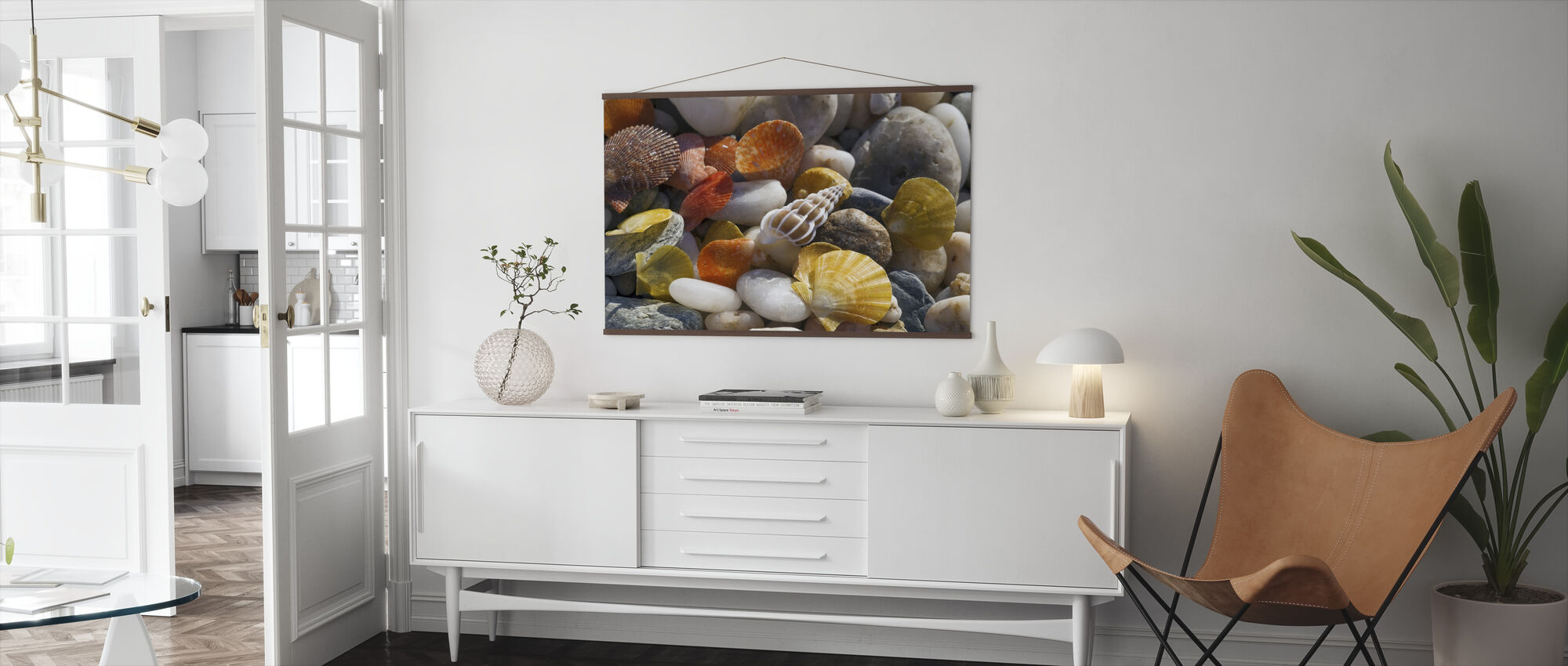 Colorful Seashells and Pebbles - Poster - Living Room