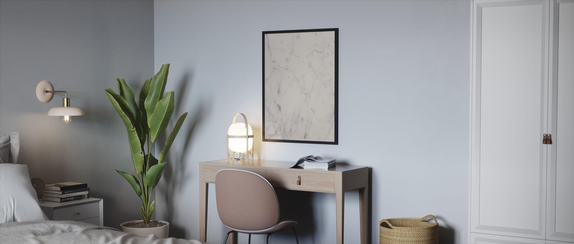 Romig wit marmer - Ingelijste print - Slaapkamer